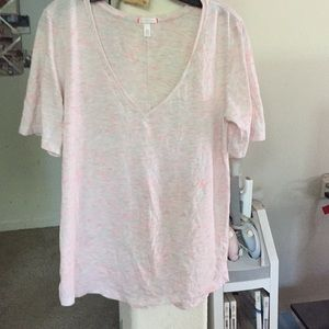 Victoria's Secret pink/off white t-shirt
